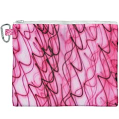 An Unusual Background Photo Of Black Swirls On Pink And Magenta Canvas Cosmetic Bag (xxxl) by Jojostore