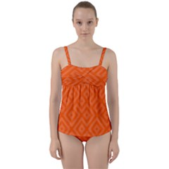 Seamless Pattern Design Tiling Twist Front Tankini Set