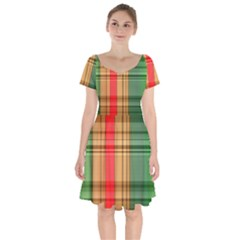 Seamless Pattern Design Tiling Short Sleeve Bardot Dress by Sapixe