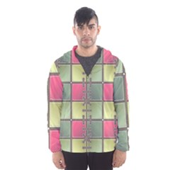 Seamless Pattern Seamless Design Hooded Windbreaker (men) by Sapixe