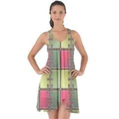 Seamless Pattern Seamless Design Show Some Back Chiffon Dress by Sapixe