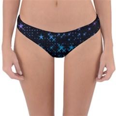 Stars Pattern Seamless Design Reversible Hipster Bikini Bottoms