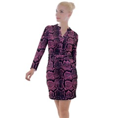 Snakeskin Button Long Sleeve Dress by chihuahuadresses