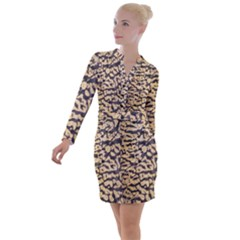 Pheasant Button Long Sleeve Dress by chihuahuadresses