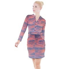 Sunset Button Long Sleeve Dress by chihuahuadresses