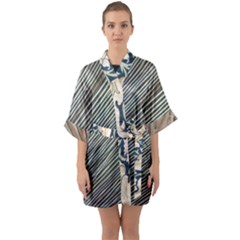 Blackwell Mix Quarter Sleeve Kimono Robe by DeneWestUK