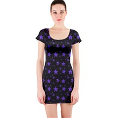 Blue Stars Short Sleeve Bodycon Dress by chihuahuadresses