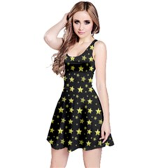 Gold Stars Reversible Sleeveless Dress by chihuahuadresses
