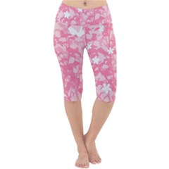 Plant Flowers Bird Spring Lightweight Velour Cropped Yoga Leggings by Sapixe