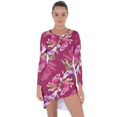 Motif Design Textile Design Asymmetric Cut Out Shift Dress by Sapixe