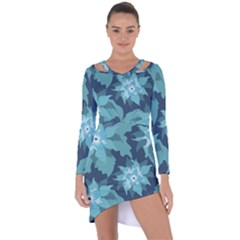 Graphic Design Wallpaper Abstract Asymmetric Cut Out Shift Dress by Sapixe