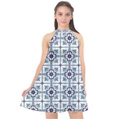 Precious Glamorous Creative Clever Halter Neckline Chiffon Dress  by Sapixe