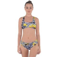 Sunflower Field Girasol Sunflower Criss Cross Bikini Set by Sapixe