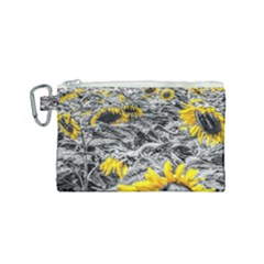 Sunflower Field Girasol Sunflower Canvas Cosmetic Bag (small)