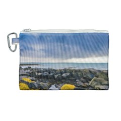 Iceland Nature Mountains Landscape Canvas Cosmetic Bag (large)