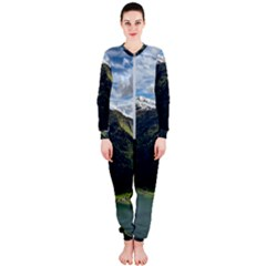 Panoramic Nature Mountain Water Onepiece Jumpsuit (ladies)  by Sapixe