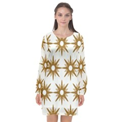 Seamless Repeating Tiling Tileable Long Sleeve Chiffon Shift Dress  by Jojostore