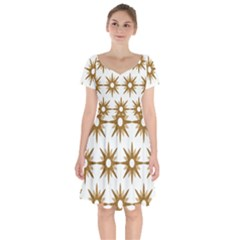 Seamless Repeating Tiling Tileable Short Sleeve Bardot Dress by Jojostore