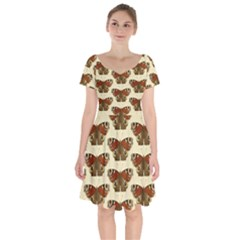 Butterfly Butterflies Insects Short Sleeve Bardot Dress by Jojostore