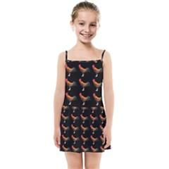 Background Pattern Chicken Fowl Kids Summer Sun Dress