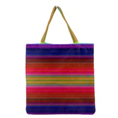 Fiesta Stripe Colorful Neon Background Grocery Tote Bag