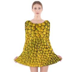 Jack Shell Jack Fruit Close Long Sleeve Velvet Skater Dress by Jojostore