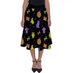 Halloween Pattern 2 Perfect Length Midi Skirt by JadehawksAnD