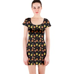 Leaves Short Sleeve Bodycon Dress by chihuahuadresses