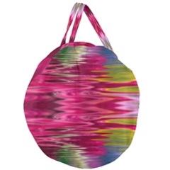 Abstract Pink Colorful Water Background Giant Round Zipper Tote