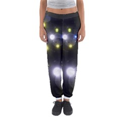 Abstract Dark Spheres Psy Trance Women s Jogger Sweatpants