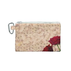 Retro Background Scrapbooking Paper Canvas Cosmetic Bag (small)