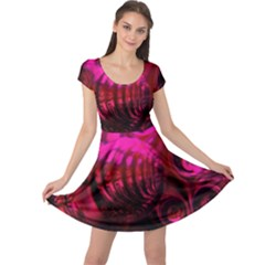 Abstract Bubble Background Cap Sleeve Dress by Jojostore