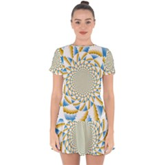 Tech Neon And Glow Backgrounds Psychedelic Art Psychedelic Art Drop Hem Mini Chiffon Dress