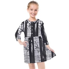 Whitney Museum Of American Art Kids  Quarter Sleeve Shirt Dress by Jojostore