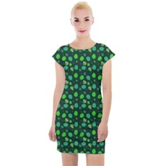 Green Leaves Cap Sleeve Bodycon Dress by chihuahuadresses