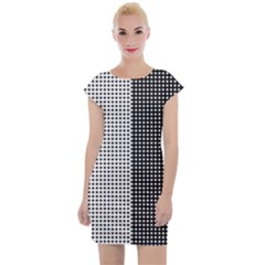 Colour Blocking Dots Cap Sleeve Bodycon Dress by chihuahuadresses