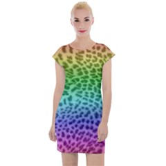Rainbow Leopard Print Cap Sleeve Bodycon Dress by chihuahuadresses