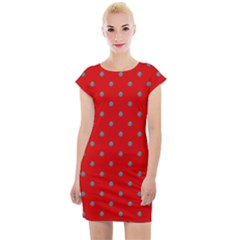 Polka Dot Cap Sleeve Bodycon Dress by chihuahuadresses