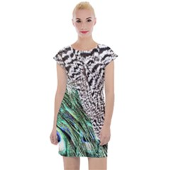 Peacock Cap Sleeve Bodycon Dress by greenthanet