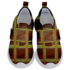 Drawing Of A Color Fractal Window Velcro Strap Shoes