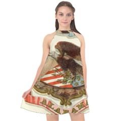 Historical Coat Of Arms Of Alabama Halter Neckline Chiffon Dress  by abbeyz71