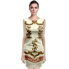 Historical Coat Of Arms Of Connecticut Classic Sleeveless Midi Dress