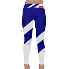 Franco-albertan Flag Classic Yoga Leggings by abbeyz71