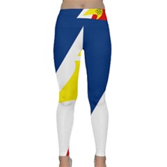 Franco Terreneuviens Flag Classic Yoga Leggings by abbeyz71