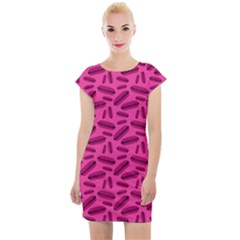 Pink Hotdogs Cap Sleeve Bodycon Dress by chihuahuadresses