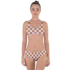 Waffle Polka Dot Pattern Criss Cross Bikini Set by emilyzragz