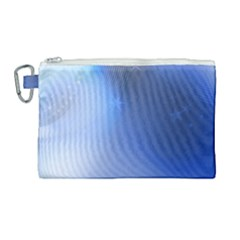 Blue Star Background Canvas Cosmetic Bag (large)