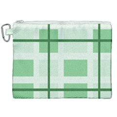 Abstract Green Squares Background Canvas Cosmetic Bag (xxl) by Jojostore