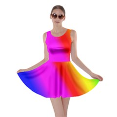 Multi Color Rainbow Background Skater Dress by Jojostore