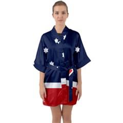 Flag Of Western Canada Quarter Sleeve Kimono Robe